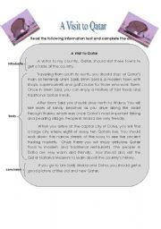 English Worksheets: A Visit to Qatar