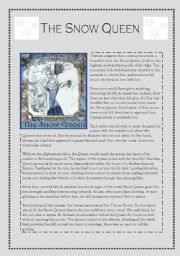 English Worksheet: snow queen reading