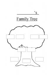 English teaching worksheets: Family tree