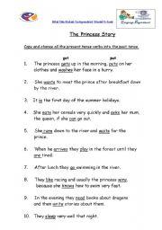 English Worksheets: princess_past