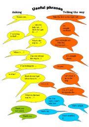 English Worksheet: Asking the way/Telling the way