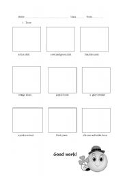 English Worksheets: Draw and have fun: