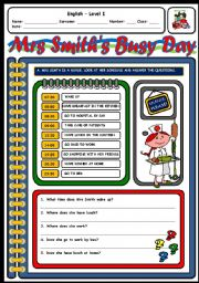 English Worksheets: MRS SMITH�S BUSY DAY