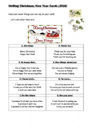 English Worksheets: Writing Holiday Cards