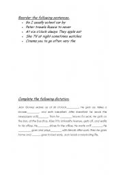 English worksheet: Frequency.