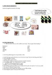 English Worksheets: how to make a potion