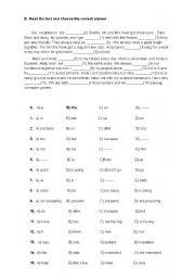 English Worksheets: clozetest