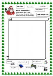 Letter to santa template ~ writing freebie! Teacher karma.