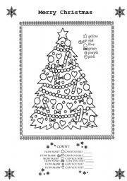 Merry Christmas Colouring Sheet
