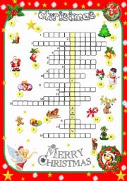 photograph regarding Christmas Crosswords Printable called Xmas crosswords worksheets