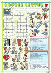 English Worksheets: DOUBLE LETTER 1