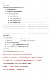 English worksheet: exame paper for intermidiate