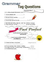 English worksheet: Tag Questins