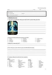 English Worksheets: Film activity: The Neverending Story (1st part)