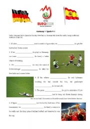 English worksheet: Football Euro 2008 Final  GER-ESP (Conditional III exercise)