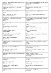 general knowledge quiz- game 3 - ESL worksheet by nevramutlu