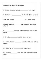 English Worksheets: Treasure Complete questions