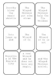 English Worksheet: THE WIZARD OF OZ SNAP