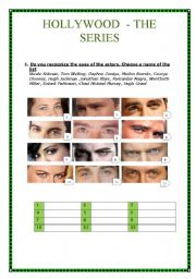 English Worksheet: Hollywood series (5 pages with answer keys)