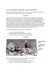English Worksheet: Black Death Handout (Bubonic Plague)- The Middle Ages