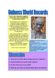 English Worksheet: Guiness World Records
