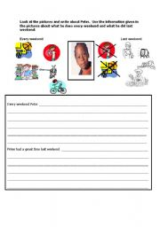 English Worksheets: write about peter