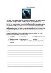 English Worksheets: Movie Characters