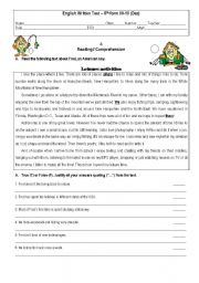 Printables Reading Worksheets For 8th Grade english teaching worksheets 8th grade test grade