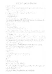 Movie script - Hitch: chapter 11, Ellis Island