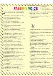 Passive voice all-tenses quiz
