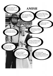 English Worksheet: Introducing the Amish people