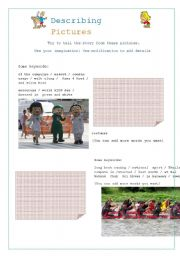 English Worksheets: Describing Pictures Part 4