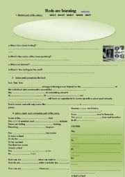 English Worksheet: Time 4 climate  change / Beds are Burning  SONG