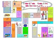 English Worksheets: let�s talk about...