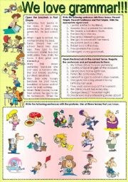 English Worksheets: We LoVe GrAmMaR!!! extra practice of Present Simple and Continuous, and Past Simple for my students.