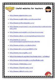 English Worksheets: WEBSITES FOR TEACHERS