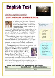 English Worksheet: English Test: (2 parts)(9th form test)Reading Comprehension/ Grammar +Vocabulary(+Key answers)