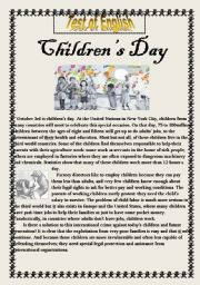 Children´ s Day    3 Sections Test of  English