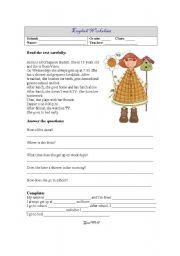 English worksheet: English worksheet