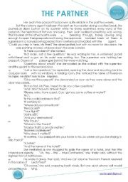 English Worksheets: THE PARTNER Reading Comprehension + KEY