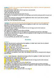English Worksheets: Joha and his neighbour