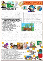 English Worksheet: Comparatives