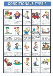 English Worksheet: CONDITIONALS TYPE 3