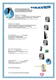 English worksheet: DANCING CHEEK TO CHEEK