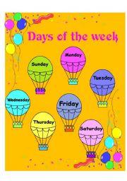 DAYS OF THE WEEK - ESL worksheet by bmwgordita