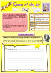 English Worksheets: Guided Composition - Writing Biographies