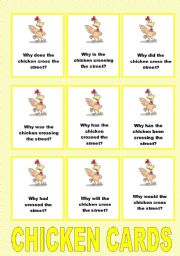 English Worksheet: ||* SPEAKING GAME *|| CHICKEN QUESTION CARDS
