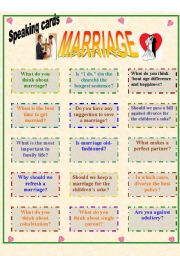 Speaking cards: Marriage