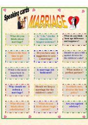 English teaching worksheets: Marriage