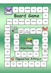English teaching worksheets: Adjectives games